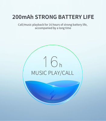 16 hours long last battery of neckband earphone